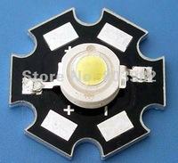 50PCS wholesale POWER LED with heatsink 1W white 80-90LM 3.0-3.5V 350mA(CE&Rosh)