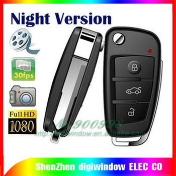 NEW Night Version FULL HD IR 1080P Car Key Mini DVR Camera Motion Detection Hidden Camera A820 mini camcorder Free Shipping