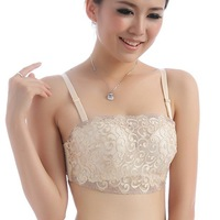 2013 New Arrival Hot sell Fashion Elegant big pond Chiffon Body shaping Bra Top Push Up bra ! Free shipping !