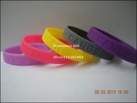 Cancer sucks wristband, cancer awareness bracelet, debossed logo, multicolours, 100pcs/lot, free shipping