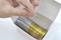 Free Shipping 50pcs Gold Color + 50pcs Silver Color Striping Tape Metallic Yarn Line Nail Art Decoration Sticker