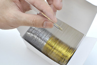 Free Shipping 50pcs Gold Color + 50pcs Silver Color Striping Tape Metallic Yarn Line Nail Art Decoration Sticker