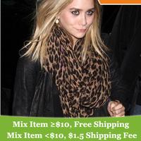 classic design  ! l  Leopard scarf scarves !Stars Design Shawl !
