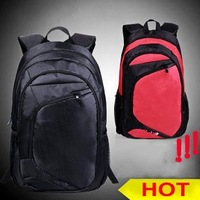 Fashion Unisex Lover's Casual Travel Sports Backpack Laptop Bags Waterproof Freeshipping Black/Red School Bag