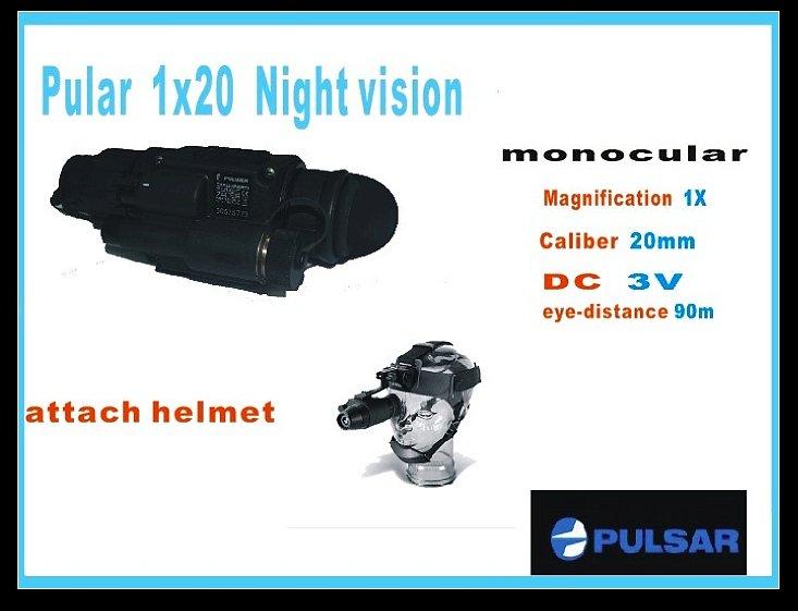 Alta qualidade Yukon 1x20 visão noturna + capacete Suporte 200M , Riflescope / Caça Scope / escopo térmica(China (Mainland))