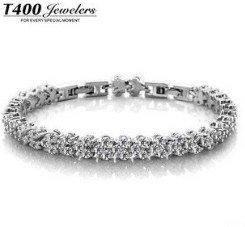 Simple style T400 fashion Top quality AAA cubic zirconia Stones bracelet Paved Bracelet 16cm 19cm length