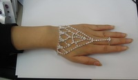 2012  New arrival Free shipping 4pcs/lots network chain bridal ring bracelet crystal bracelet and ring wedding accessory 114540