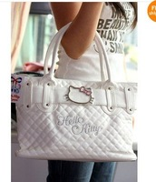 Brand New Hello Kitty Handbag Shoulder Bag Tote B838  Free shipping / White