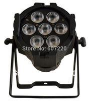 8pcs/lot par light  par can   7*10W (4IN1) quad color  RGBW  high brightness  led par can dj light