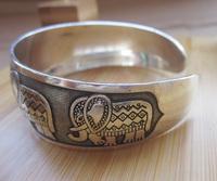 BR097 Thai Elephant Metal Tibetan Silver vintage retro Fashion Bracelet Cuff Bangle Free Shipping  for her