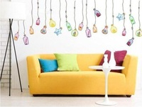 Free shipping wall sticker,DIY home decoration,Drift bottle,chrildren room,45*65CM