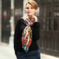 2013 Large Square Silk Scarf with 6 Designs