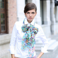 2013 Fashion long silk scarf for Girl with 6 Designs