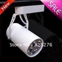 2 pcs/ lot Free Shipping 5w LED track light for store/shopping mall lighting 5*1w led lamp Color optional White/black Spot light