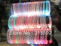 Free Shipping 48pcs/lot LED bracelet light up flashing bracelet Blinking Crystal bracelet for Christmas