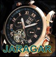 HOT!2014 Fashion 30pc/lot Wholesale Self Wind Mechanical Mens Watch,JARAGAR Watches 6 Hands,100% Good Quality,LLW-J-1025-30