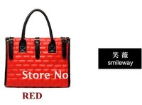 Free shipping 1pc Hot fashion Women Bags Handbag Lady PU Handbag PU Leather Shoulder Bag Handbags blavck orange red