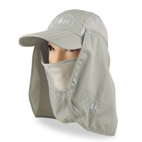 fishing hats/cap 2012 New Visor Fishing Camping Cap Hat Front Back Hooded UV Cut MZ11  wholesale price