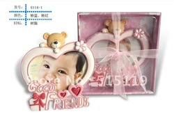 Free shipping Heart baby photo frame Baby grow commemorative photo show gift packaging Album(China (Mainland))