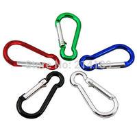 5 x Carabiner Clip Snap Hook Small Keyring for Camping Sports Karabiner Metal