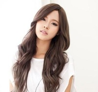 Free Shipping 2013 New Designer Wholesale Price 100% Women's Long Curly Fluffy Full Lace Synthetic Hair Wigs WL025
