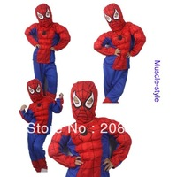Min.order is $20)wholesale Performance clothing spider-man-muscle costume Halloween Bar Party.hat+clothes+trousers Free shipping