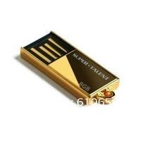 Free Shipping Gold Micro USB Flash Drive 1GB 2GB 4GB 8GB 16GB 32GB 64GB