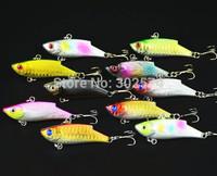10pcs/lot Fishing lure vib sinker bait 5.5CM-10G-8# hooks fish hard bait pesca tackle artificial lures wobblers swimbait
