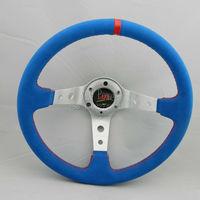 Blue sport steering wheel momo steering  wheel high quality  wholesale and retailer
