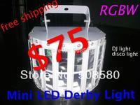 6pcs/lot,Wedding decoration party light night bar club RGBW Mini LED Derby Light Stage Magic Effect Light DMX Disco DJ Light