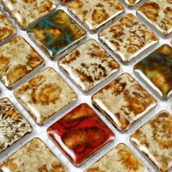 Mosaic stone pattern backsplash | New Jersey Custom Tile