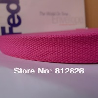 1'' Inch 25mm Hot Pink Color High Quality Cotton Polyester Webbing For Bags 50y/roll Free Shipping