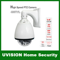 Security CCTV 6 inch 27X 480TVL 256 Preset 3.2-86.4mm Focal Lens High Speed CCD Color Chip PTZ Camera DHL free shipping