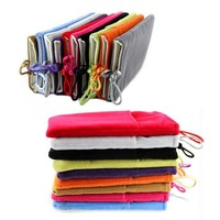 Free Shipping 10Pcs/Lot Colorful Mobile Phone Pouch Bag Mobile Power Protection Cloth Flannel Sets Buckle Beads Bag
