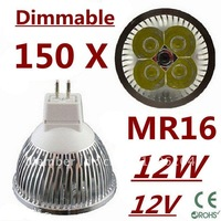 150pcs Dimmable LED High power MR16 4x3W 12W led Light led Lamp led Downlight led bulb spotlight FREE FEDEX and DHL