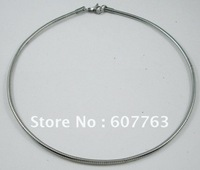 "1.5MM,2MM Width 316L Stainless Steel Silverish Round Omega Chain Necklace 16"",18"" Inches or 40CM,45CM Length Available"