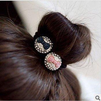 New Hair Jewelry Cute Rhinestone Bowknot Elastic Hair bands H107