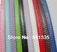 30 strips 8mm wide / 1metre length PU Leather belt fit for slide letters DIY bracelet
