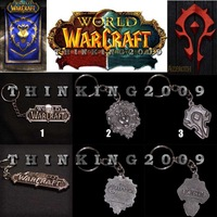 WOW World of Warcraft Game LOGO Metal KEYCHAIN-Blizzard.Alliance.Horde