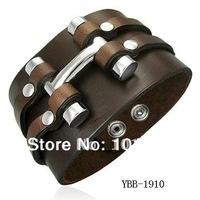 Wholesale Cheap Price Fashion leather cuff men's leather bracelet