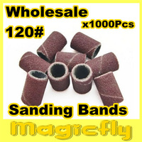 [PFL-069]1000x120#Sanding Bands For Manicure Pedicure Nail Drill Machine,long:1.2 CM, 0.8 CM mouth size+Free Shipping