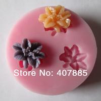 silicone cake mold cake decoration fondant chocolate clay mold cake tool soap form mini flower shape