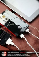Hot Salse!High Quality Yoobao Thunder power bank for iphone 4, for ipad 2, for mobile phone,13000mAh YB-651 by Free shipping