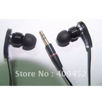 NEW 3.5mm inear  black strong bass Headphone Earphone Earbuds headset For MP3 MP4 psp pc with case 8 earplugs free shipping