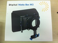 Professional Matte Box M3 For 15mm Rod Follow Focus Rig 5d2 Dv 4x4 Rotatable Filter