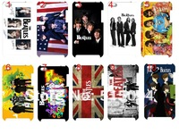 The Beatles case hard back cover for ipod touch 4 4th 10pcs/lot+free shipping