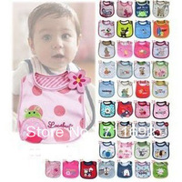 Free shipping-6pcs/lot 100% cotton baby bibs,NEWBORN Toddle / Infant Baby BOYS / GIRLS BIBS, Feeding  Infants Saliva towel