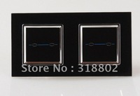 Free Shipping Light Switch Black Crystal Glass Switch Panel EU Standard 4 Gangs 1 Way Wall Light Touch Switch, LML-D022-B