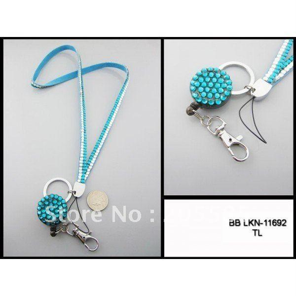 Factory direct sale fashion crystal lanyard customize bling rhinestone many color available lanyard(China (Mainland))