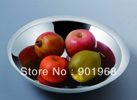 Hot sell stainless steel fuit bowl-candy bowl-desert plate-fruit holder-Large size-2 pcs/lot